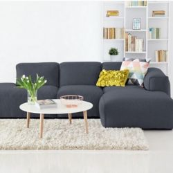 Corner Sofa with Open End Fresno Copparo Dervit 1465 | Grey