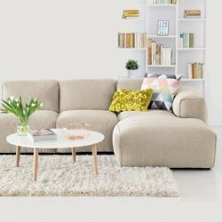Corner Sofa with Open End Fresno Vasto 2340 | Cream