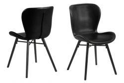Set de 2 Chaises Matilda-A1 | Noir