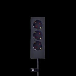 3er-Mehrfachsteckdose Plug | Graphit
