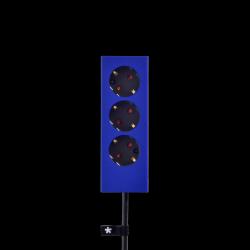 3er-Mehrfachsteckdose Plug | Blau