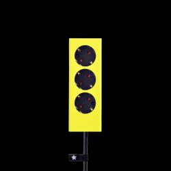 3er-Mehrfachsteckdose Plug | Gelb
