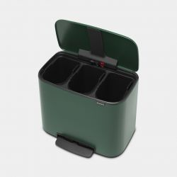 Mülleimer Bo 11 L + 11 L + 11 L | Grün