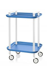 Trolley Delica H 73 cm | Wit & Blauw