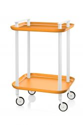 Trolley Delica H 73 cm | Weiß & Orange