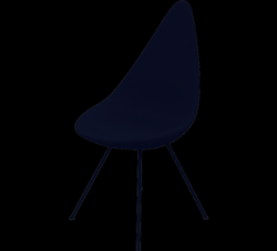 Drop Chair | Plastic Shell Black