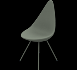 Drop Chaise | Plastic Shell Stone Grey