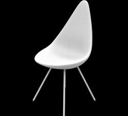 Drop Chair | Plastic Shell White