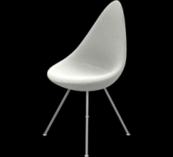 Drop Chair | Light Grey Fabric