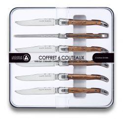 Set of 6 Knives Laguiole Evolution | Light Wood