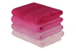 Handtuch Rainbow 4er-Set | Pink