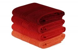 Hand Towel Rainbow Set of 4 | Red