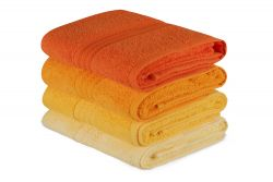 Handtuch Rainbow 4er-Set | Gelb