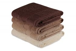 Bath Towel Rainbow Set of 4 | Brown