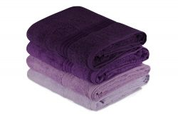 Bath Towel Rainbow Set of 4 | Lilac