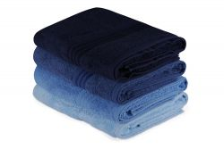 Bath Towel Rainbow Set of 4 | Blue