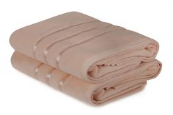 Bath Towel Dolce Set of 2 | Salmon Pink