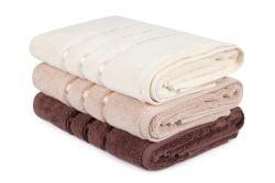 Handtuch Dolce 3er-Set | Beige, Creme & Braun