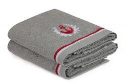 Handtuch Maritim 2er-Set | Grau