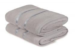 Handtuch Dolce 2er-Set | Hellgrau
