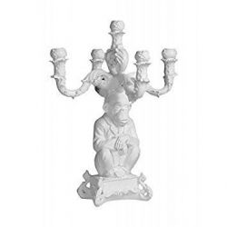 Candle Holder Burlesque Chimp | White