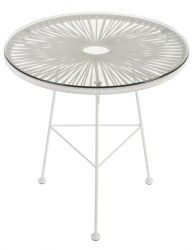 Table d'Appoint Acapulco | Blanc