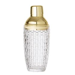 Cocktail Shaker | Glas | Klar + Gold