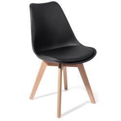 4er-Set | Stuhl Kiki Holz | Schwarz