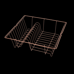 Metal Draining Rack Lipsia | Copper