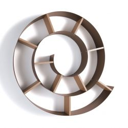 Wall Shelf Chiocciola | Corten