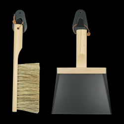 Set of Hand Brush & Dustpan & 2 Wall Hooks | Mr & Mrs Clynk | Black