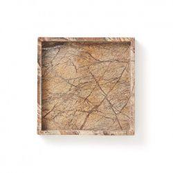 Marmortablett Forrest | Braun