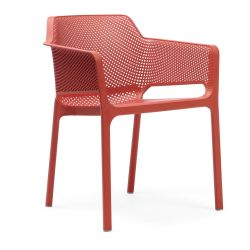 Chaise Empilable Net | Rouge