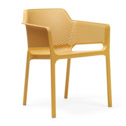 Chaise Empilable Net | Jaune