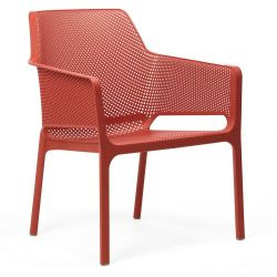 Chaise Empilable Net Relax | Rouge