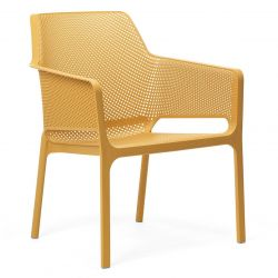 Chaise Empilable Net Relax | Jaune