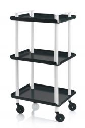 Trolley Leky H 95 cm | White-Black