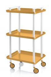 Trolley Leky H 95 cm | White-Yellow
