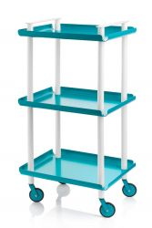 Trolley Leky H 95 cm | White-Turquoise