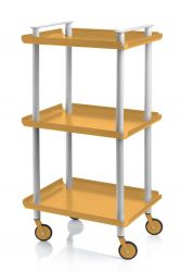 Trolley Leky H 95 cm | Grey-Yellow