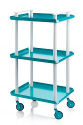 Trolley Leky H 95 cm | Grey-Turquoise