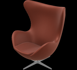 Egg Lounge Chair | Cognac-Leder