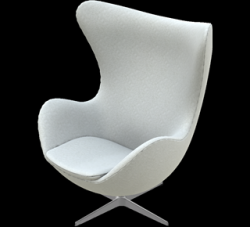 Egg Lounge Chair | Hellgrau Divina Melange