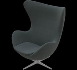 Egg Lounge Chair | Salt & Pepper Divina Melange