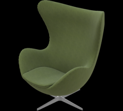 Egg Lounge Chair | Dark Olive Divina Melange