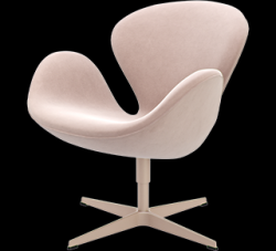 Swan Lounge Chair | Nubuck Leather Dusty Rose