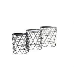 Satz Dreiseitentische | Stahl 62