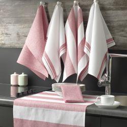 Waschhandtuch Pecete 6er-Set | Rosa