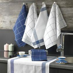 Waschhandtuch Pecete 6er-Set | Blau