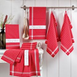 Waschhandtuch Kup 10er-Set | Rot
